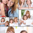 Stock Photo: Mother and daughter mosaic