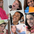 Stock Photo: A collage of adolescents