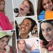 Stock Photo: Collage of adolescents