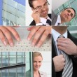 Dedication and ambition in business - Stock Photo
