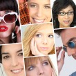 Women facial expressions — Stock Photo