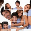 Happy man and woman, photo-montage — Stock Photo #7715312