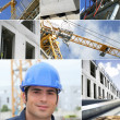 Construction works collage - Stock Photo