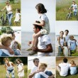 Collage of a family in the countryside — Stock Photo #7715335