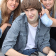Group of teenage friends — Stock Photo #7715430