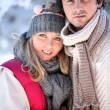 Wintry young couple — Stock Photo #7716855