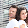 Couple outside office building — Stock Photo #7716941