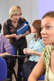 Students in class at university — Stock Photo