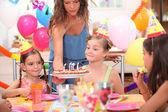Kids at birthday party — Stock Photo
