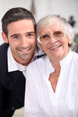 Grandmother with son — Stock Photo