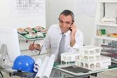 Architect on telephone call — Stock Photo