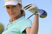 A portrait of a female golfer. — Stock Photo