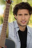 Guitar musician — Stock Photo