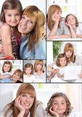 母と娘のモザイク — ストック写真