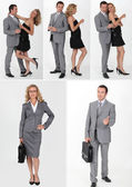 A couple with different clothes — Stockfoto