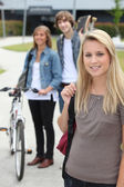 Teenagers going home — Stock Photo