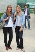 Teenagers standing outside — Stock Photo