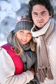 Wintry young couple — Stock Photo