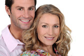 Headshot of smiling couple — Stock Photo