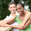 Portrait of interracial couple — Stock Photo #7731780