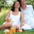 Stock Photo: Couple relaxing outside