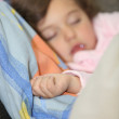 Little girl fast asleep — Stock Photo #7733221
