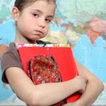 Little girl at school — Stock Photo