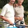 Father and son fishing — Stockfoto #7738673
