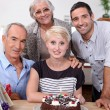 Stock Photo: Family birthday party