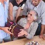 Family birthday party — Stock Photo