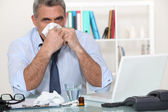 Poorly businessman — Stock Photo