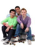 Group of male students — Stock Photo