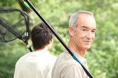 Men going fishing — Stock Photo