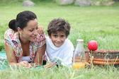 家族のピクニック — ストック写真