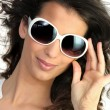 Young womin oversized sunglasses — Stock Photo #7742036