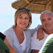 Middle-aged couple staying at resort — Stock Photo