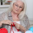 Older womknitting — Stock Photo #7745828