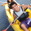 Foto Stock: Couple on kayak