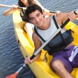 Couple on kayak — Stock Photo