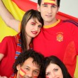 A group of friends supporting the Spanish football team — Stock Photo #7747907