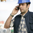 Foreman on phone — Stock Photo