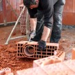 Workmsculpting brick — Stock Photo #7749986