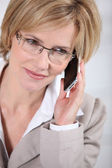 Businesswoman making call — Stock Photo
