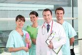 Ett team av vårdpersonal — Stockfoto