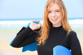 Portrait of a young woman at the beach — Stock Photo