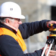 Surveyor with equipment — Stock Photo