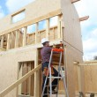 Construction worker building a house — Stock Photo #7750310
