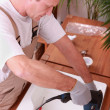Royalty-Free Stock Photo: Handyman installing a sink