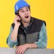 Mason over the phone. — Stock Photo #7778849