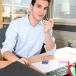 Trainee in accountancy — Stock Photo #7779035